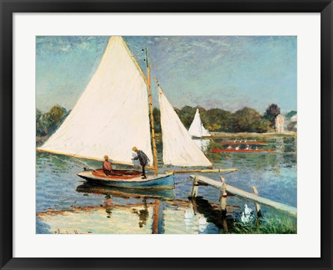 Framed Sailing at Argenteuil, c.1874 Print