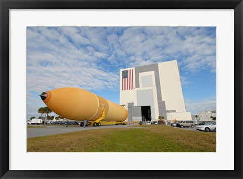 Framed External Tank 130 Rolls Toward Kennedy Space Center's Vehicle Assembly Building Print