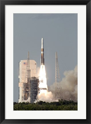 Framed Delta IV Rocket lfits off from its Launch Complex Print