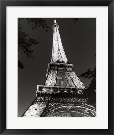 Framed Eiffel Tower at Night Print