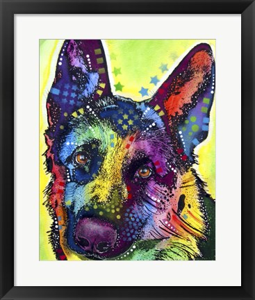 Framed German Shepherd 1 Print
