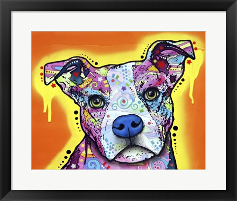 Framed Serious Pit Print