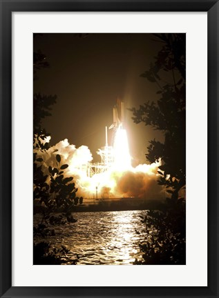 Framed Space Shuttle Endeavour Liftoff Print