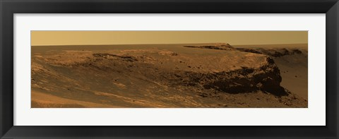 Framed Layers of Cape Verde in Victoria Crater Print