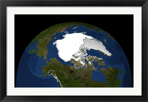 Framed Arctic Sea Ice in 2005 Print
