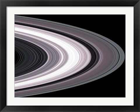 Framed Small Particles in Saturn's Rings Print