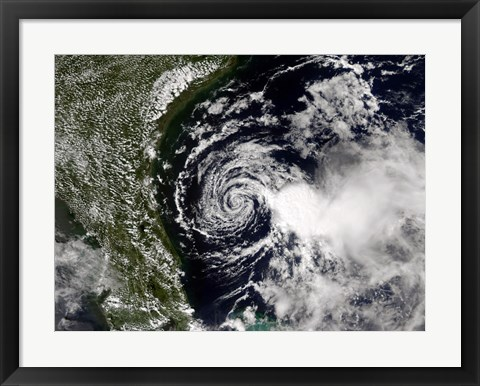 Framed Tropical Storm Edouard Print