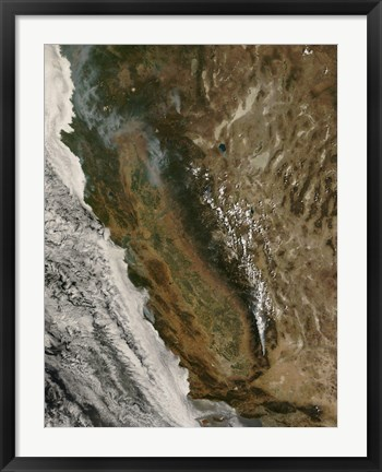 Framed Fires in California Print