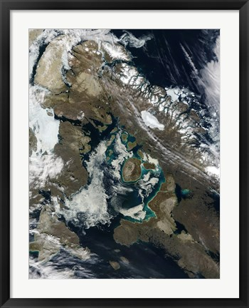 Framed Foxe Basin, Northern Canada Print