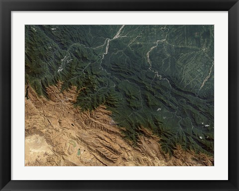Framed Andes Mountains Print