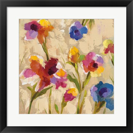 Framed Bold Bright Flowers II Print