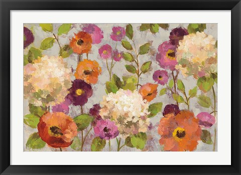 Framed Hydrangeas and Anemones Print