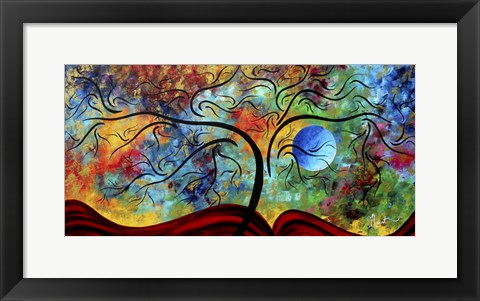 Framed Blue Moon Rising Print
