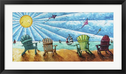 Framed Beach Life II Print