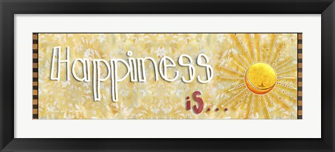 Framed Happiness Is Sunshine Print