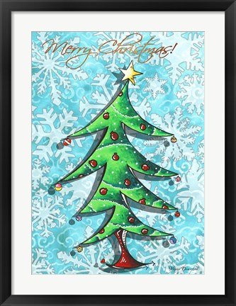 Framed Christmas Tree 1 Print