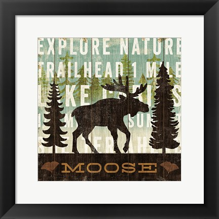 Framed Simple Living Moose Print