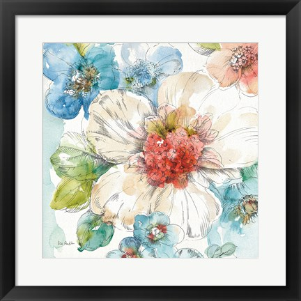 Framed Summer Bloom III Print