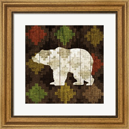 Framed Southwest Lodge - Bear Print