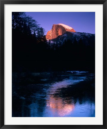 Framed Half Dome, Merced River, Yosemite, California Print