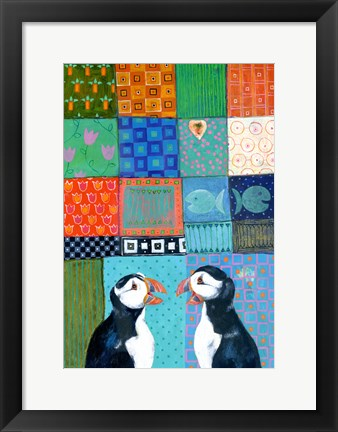 Framed Paradise Puffin Print