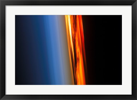 Framed Atmosphere and a Setting Sun Print
