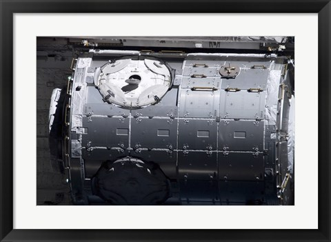 Framed Harmony Node in the Payload Bay of Space Shuttle Discovery Print