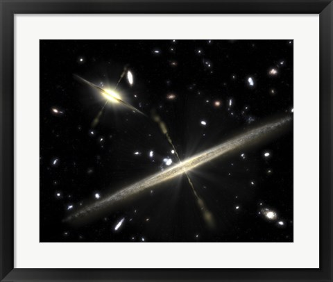 Framed Two Types of Spiral Galaxies that Populate our Universe Print
