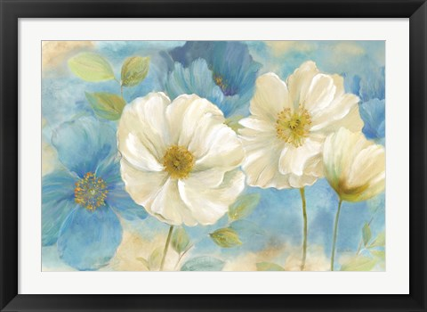 Framed Watercolor Poppies Landscape Print