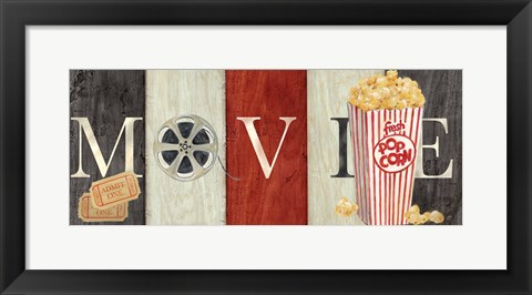 Framed Movie Cinema Signs I Print