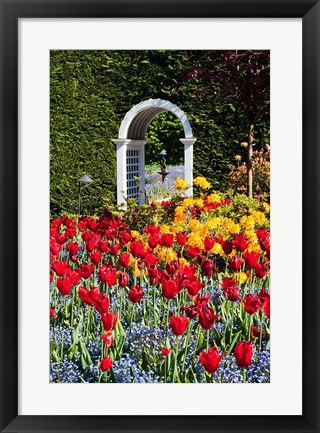 Framed Hately Gardens, Victoria, British Columbia Print