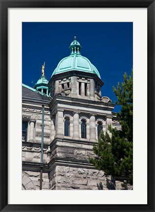 Framed British Columbia, Victoria, Close Up of Parliament Building Print