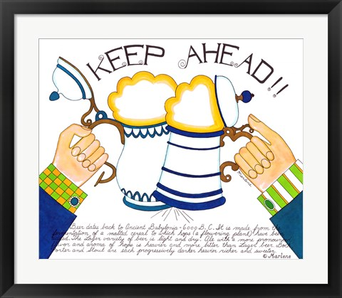 Framed Keep Ahead Print