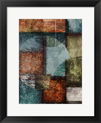 Framed Rectangles with Circles - Left Print