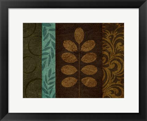 Framed Pressed Leaves 2 Print