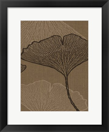Framed BROWN LEAVES 2 Print