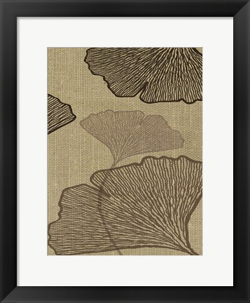 Framed BROWN LEAVES 3 Print