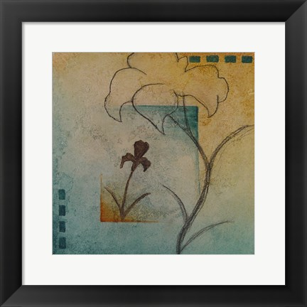 Framed Flower Abstract II Print