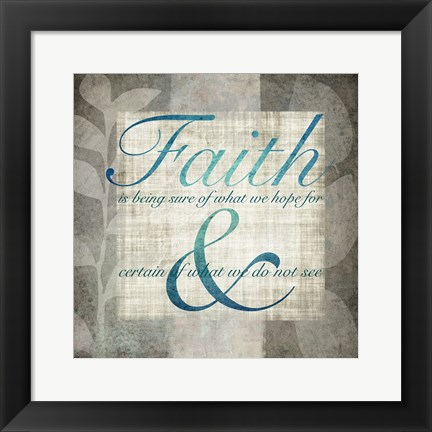 Framed Faith Print