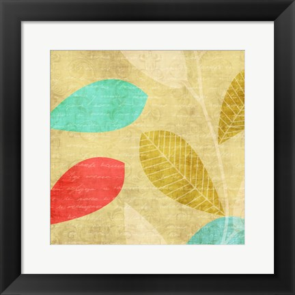 Framed Vivd Leaves Print