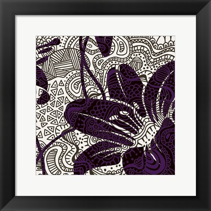 Framed Funky Flower B Print