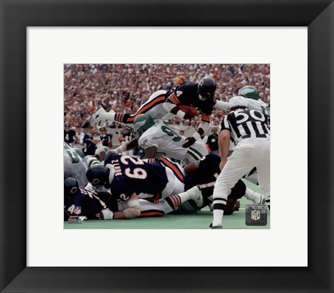 Framed Walter Payton 1986 Action Print