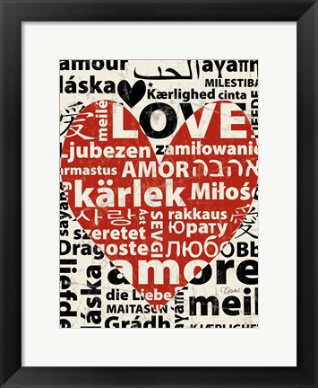 Framed Love Lanquages 1 Print