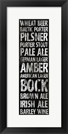 Framed Beer 2 Print