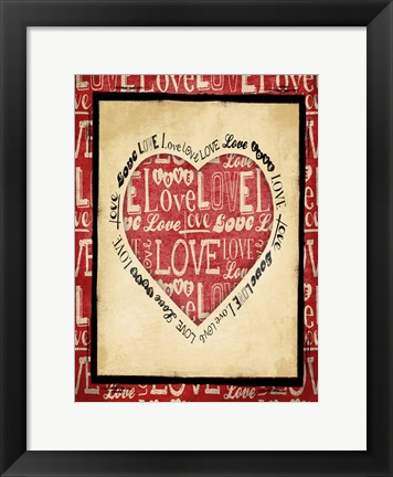 Framed Love 1 Print