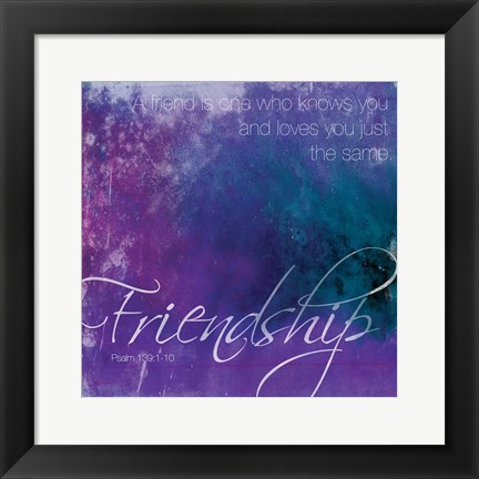 Framed Watercolor Friendship Print