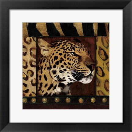 Framed Leopard with Wild Border Print