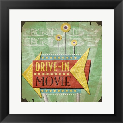 Framed Drive In Print