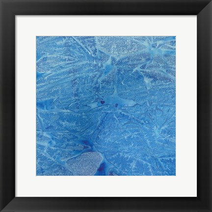 Framed Blue Abstract B Print