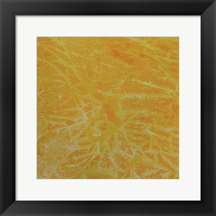 Framed Yellow Abstract A Print
